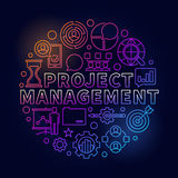 Project Management bright illustration Stock Photo