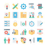 Project Management Colored Vector Icons 3 Stock Photo
