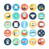 Project Management Colored Vector Icons 5 Royalty Free Stock Images