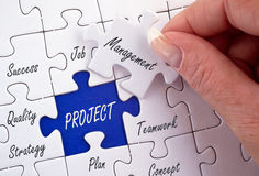 Project management concept Royalty Free Stock Image