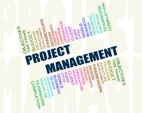 Project management concept. A computer generated word cloud concept illustration depicting the concept  of Project management, with relevant key words related to Stock Photos