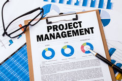 Project management. Concept on clipboard Royalty Free Stock Image