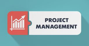 Project Management Concept in Flat Design. stock illustration