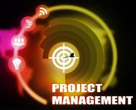 Project Management concept plan graphic. Background Royalty Free Stock Photo