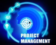 Project Management concept plan graphic. Background Royalty Free Stock Images