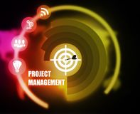 Project Management concept plan graphic. Background vector illustration