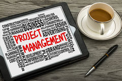 Project management concept with related word cloud Stock Images