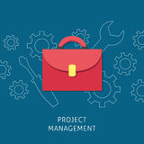 Project management design concept. Vector project management flat illustration. Project management design concept Royalty Free Stock Image