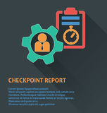 Project management icon, checkpoint report icon. Stock Image