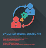 Project management icon, communication management icon. Stock Photos
