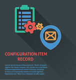 Project management icon, configuration item record icon. Royalty Free Stock Photo