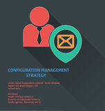 Project management icon, configuration management strategy icon. Stock Image