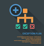 Project management icon, exception plan icon. Royalty Free Stock Images