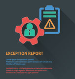 Project management icon, exception report icon. Stock Image