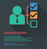Project management icon, highlight report icon. Royalty Free Stock Photography