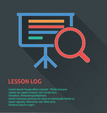 Project management icon, lesson log icon. Project management icon,  illustration of lesson log icon Stock Images