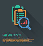 Project management icon, lessons report icon. Stock Photos