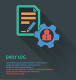 Project management icon, daily log icon. Stock Photo