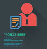 Project management icon, project brief icon. Stock Images
