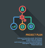 Project management icon, project plan icon. Royalty Free Stock Photos