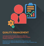 Project management icon, quality management icon. Stock Photos