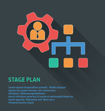 Project management icon, stage plan icon. Stock Photo