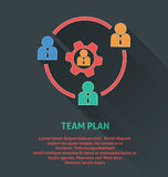 Project management icon, team work icon. Royalty Free Stock Photo