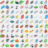 100 project management icons set, isometric style Royalty Free Stock Photography