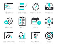 Project Management icons set Royalty Free Stock Image
