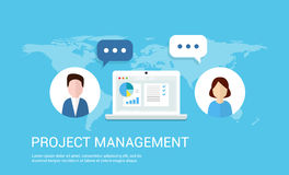 Project Management  illustration. Project Management  background in flat style Stock Photos