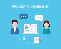 Project Management  illustration. Project Management  background in flat style Royalty Free Stock Images