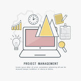 Project Management, Infographic elements. Royalty Free Stock Photos