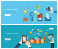 Project management and internet marketing concept Royalty Free Stock Images