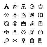 Project Management Line Icons Stock Images