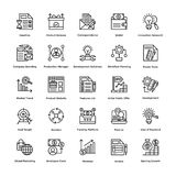 Project Management Line Vector Icons Set 20 Royalty Free Stock Photography