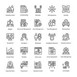 Project Management Line Vector Icons Set 18 Royalty Free Stock Image