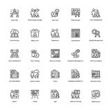 Project Management Line Vector Icons Set 24 Royalty Free Stock Images