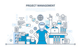 Project management, planning, implementation deadlines and time management, process control. Royalty Free Stock Photography