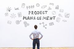 Project management. Concept, manager in company royalty free stock photos