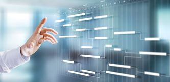 Free Project Management Schedule Plan Diagram Business Process Optimisation Concept. Stock Photo - 158723920