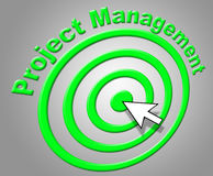 Project Management Shows Enterprise Projects And Administration. Project Management Representing Directorate Manager And Boss Stock Photos