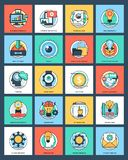 Project Management Flat Icons. Project management is something on which success of the project is based amd icons derived here are explaining activities of Stock Image