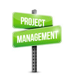 Project management street sign illustration Stock Image