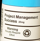 Project Management Success. The idea of Project Management Success in tablet form showing that to achieve success in managing programmes and projects requires Stock Photos