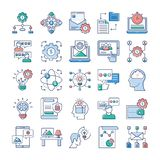 Project Management, Teamwork Flat Icons Pack vector illustration