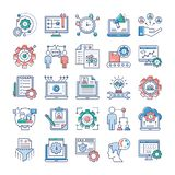 Project Management, Teamwork Flat Vectors Set vector illustration