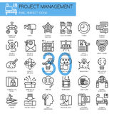 Project management , thin line icons set Stock Images