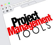 Project Management Tools Online Website Resource Stock Photos