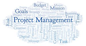 Project Management word cloud, made with text only. Project Management word cloud, made with text only royalty free illustration