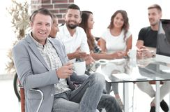 Project Manager and business team royalty free stock photography